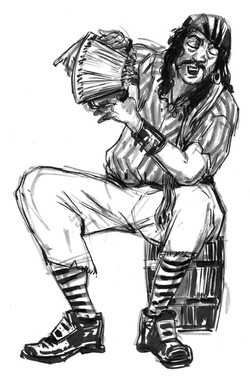 CSG John Pirate Barrel Accodian
