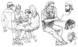 CP Hippies & Laptop Man