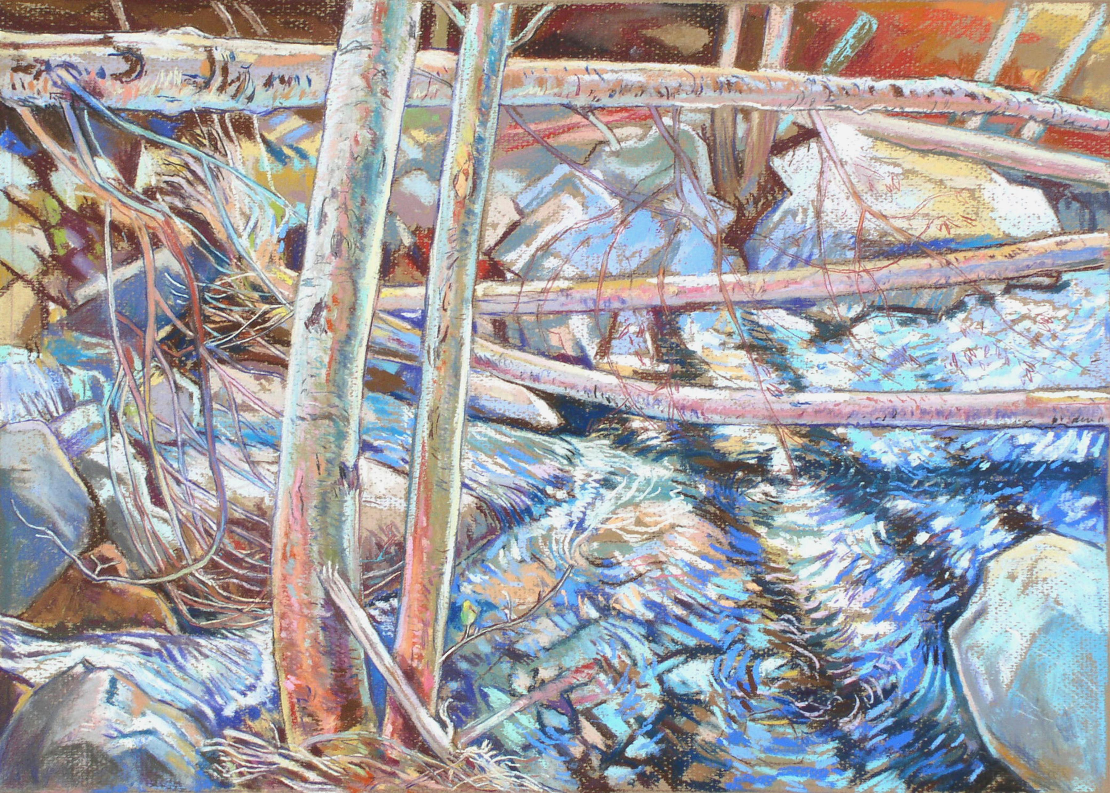 Baldy Fallen Aspens Swirling Blue