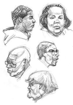 Bowl Five Heads
