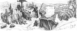 Baldy Bowl Boulders & Snow