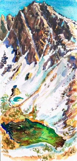 Sierra Black Peak & Green Lake