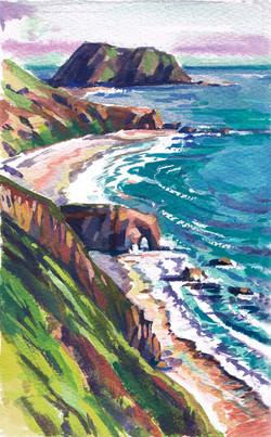 Big Sur Arches Coast Above