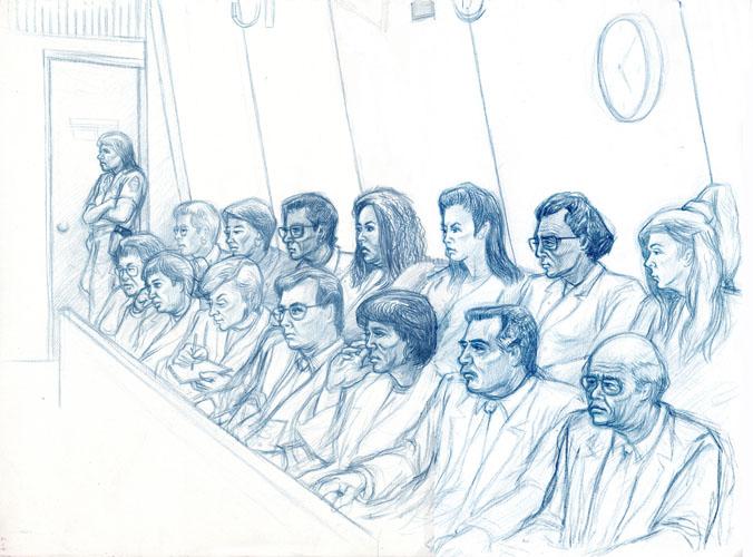 Jury close ups