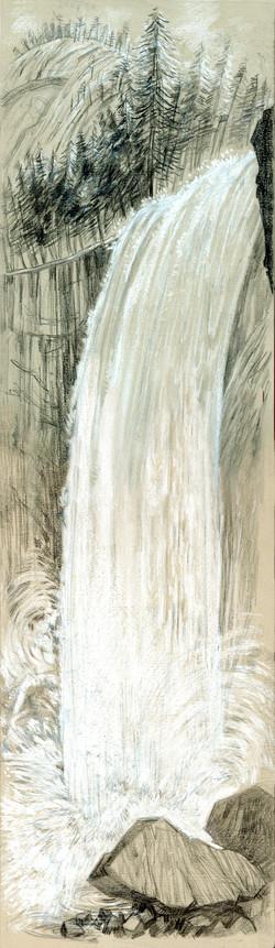Yosemite Vernal Falls Vertical