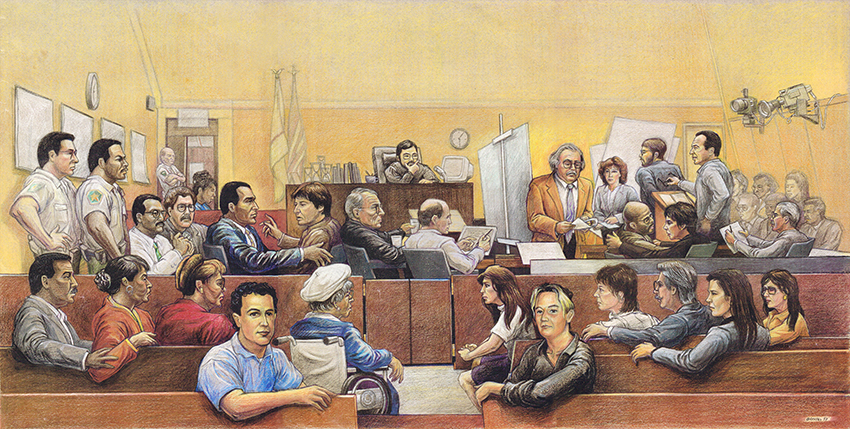 Courtroom Personalities Panorama