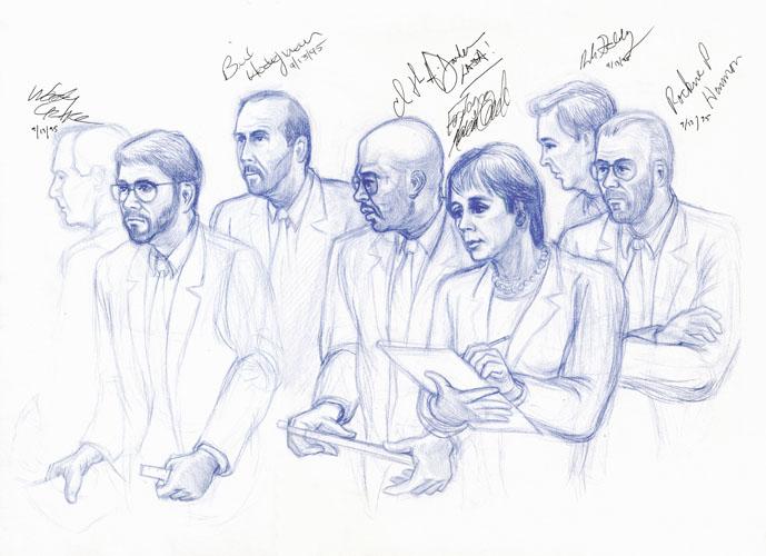 Prosecution Team autographs