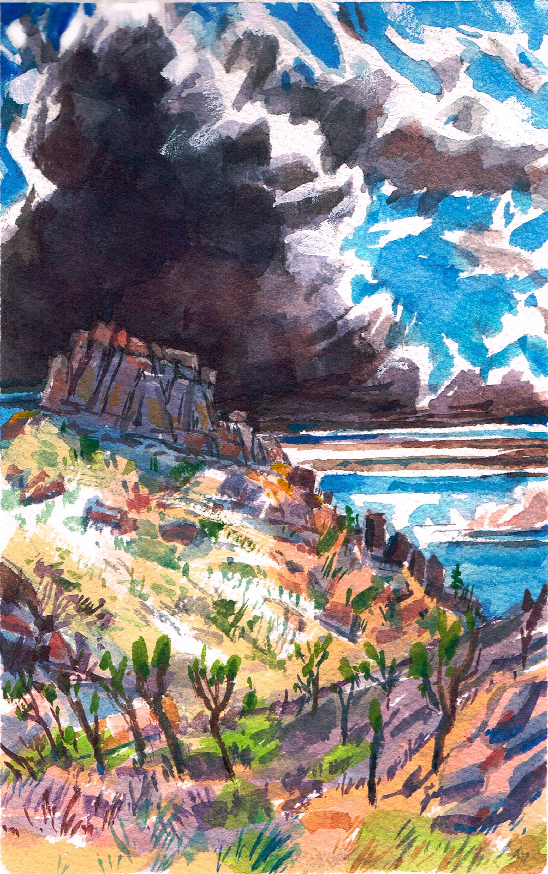 Yucca Butte Ridge & Clouds 2