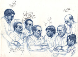 Defense Team autographs