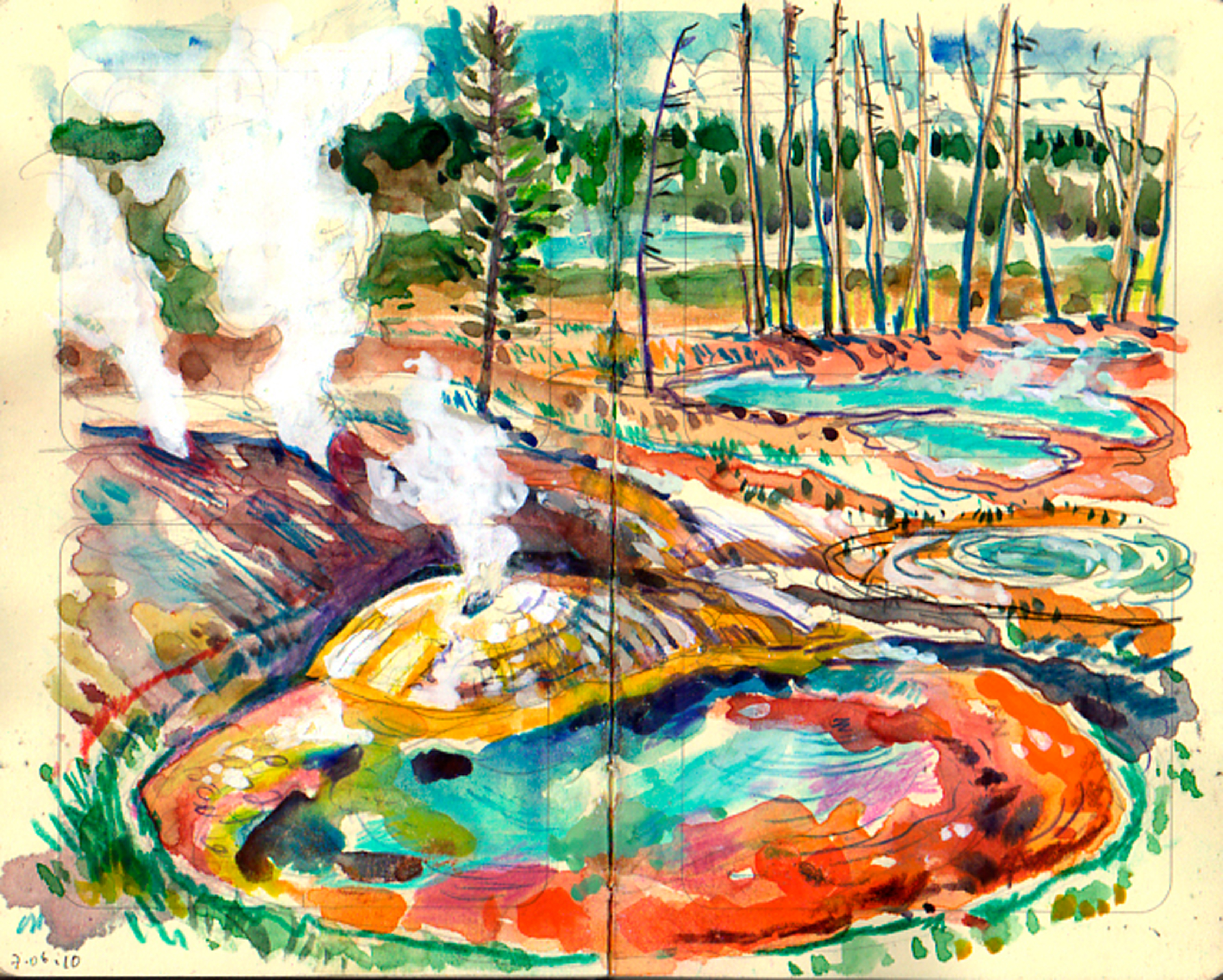 Yellowstone geysers & paint pots