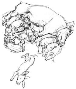 PIG Mom & Kids DARK