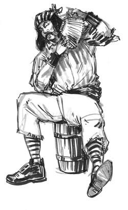 CSG John Pirate Sit on Barrel front