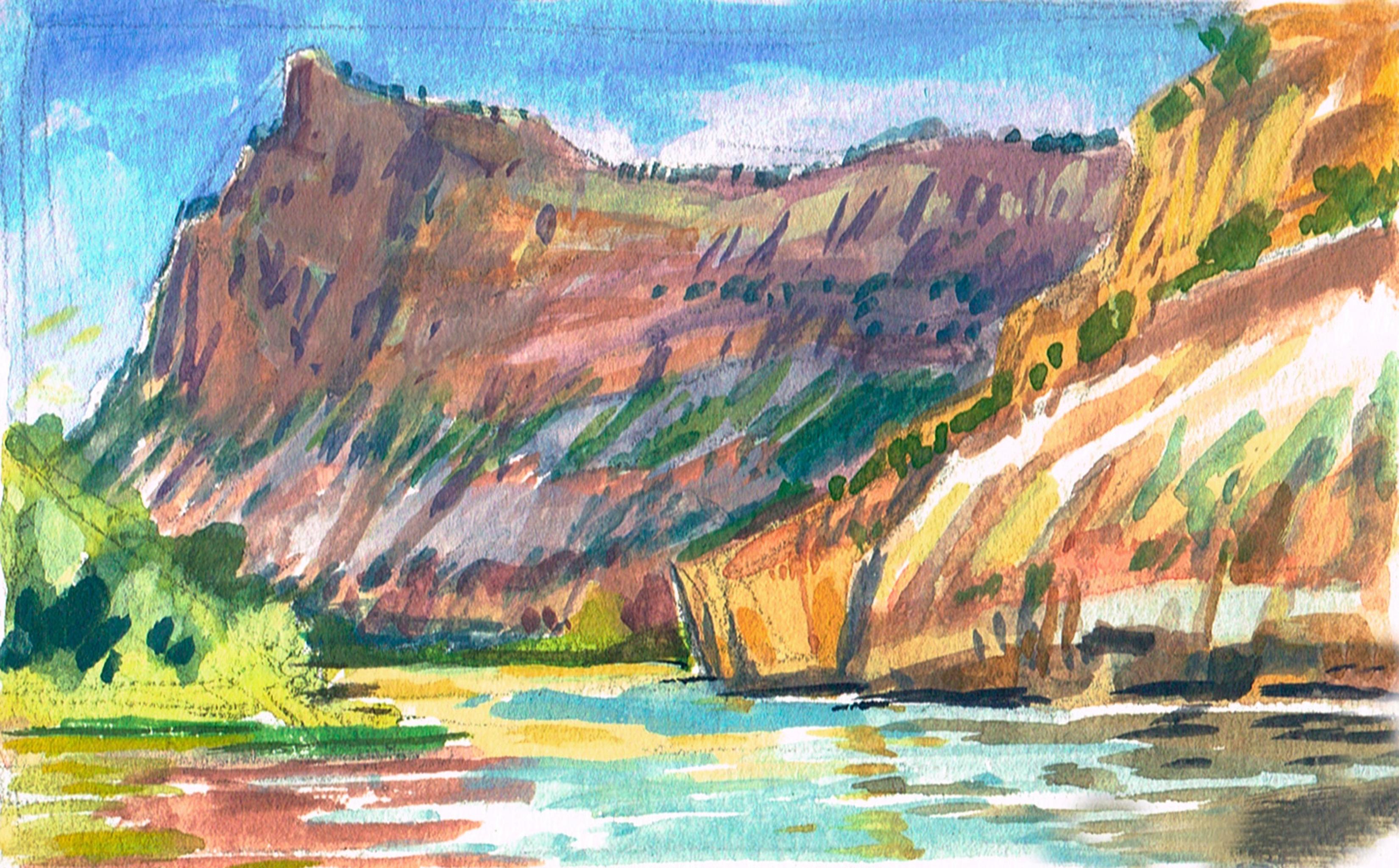 Green River Sunset Mtn