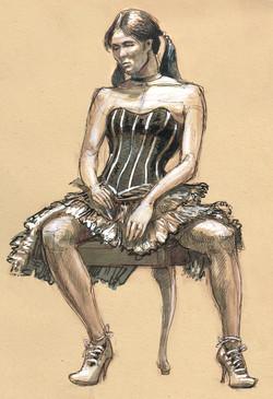 Otis SHIRLY dance hall girl