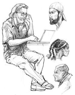 CP Laptop Man & Heads
