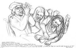 Simpson family women at verdict