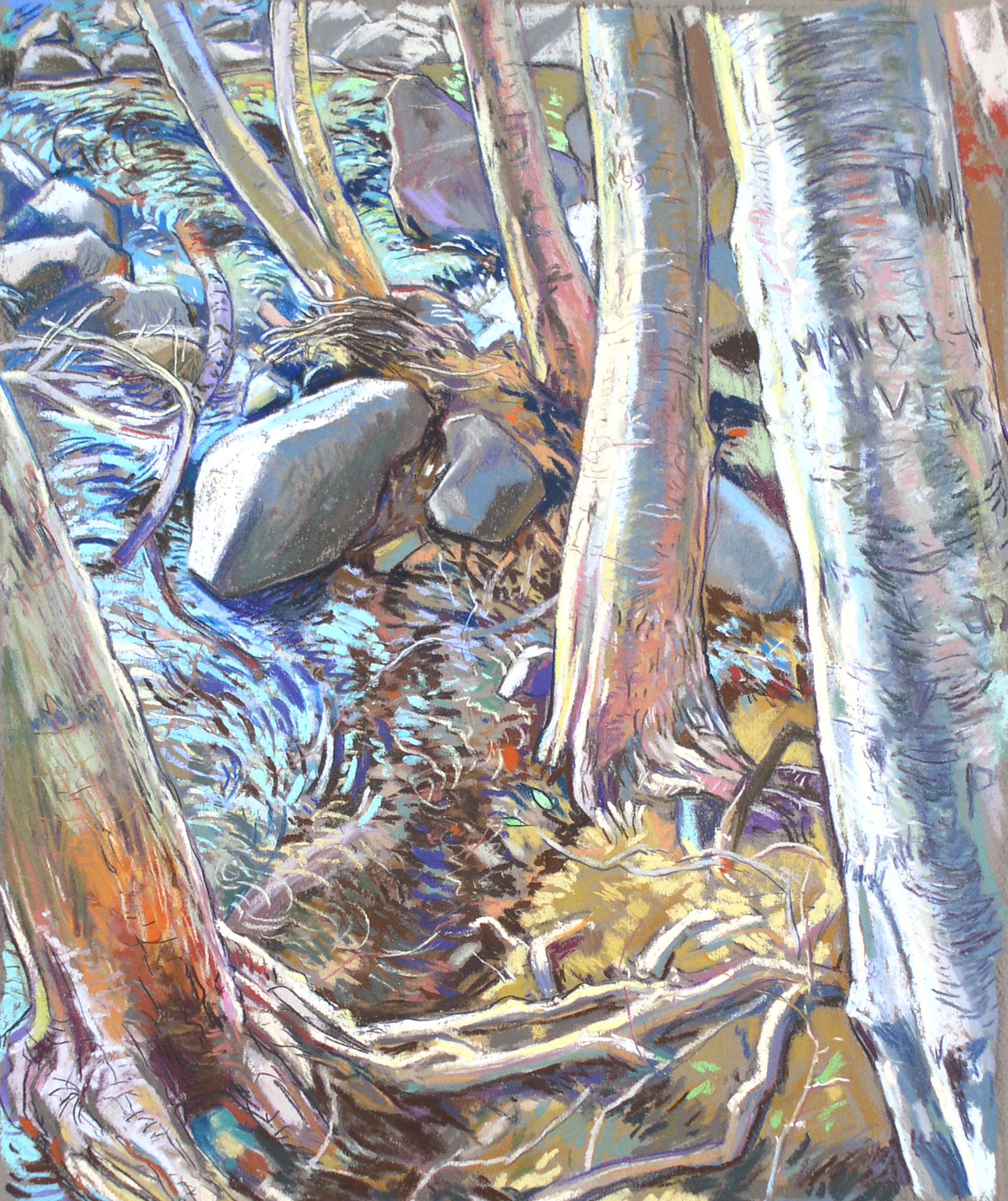 Baldy Stacked Aspens Blue Creek