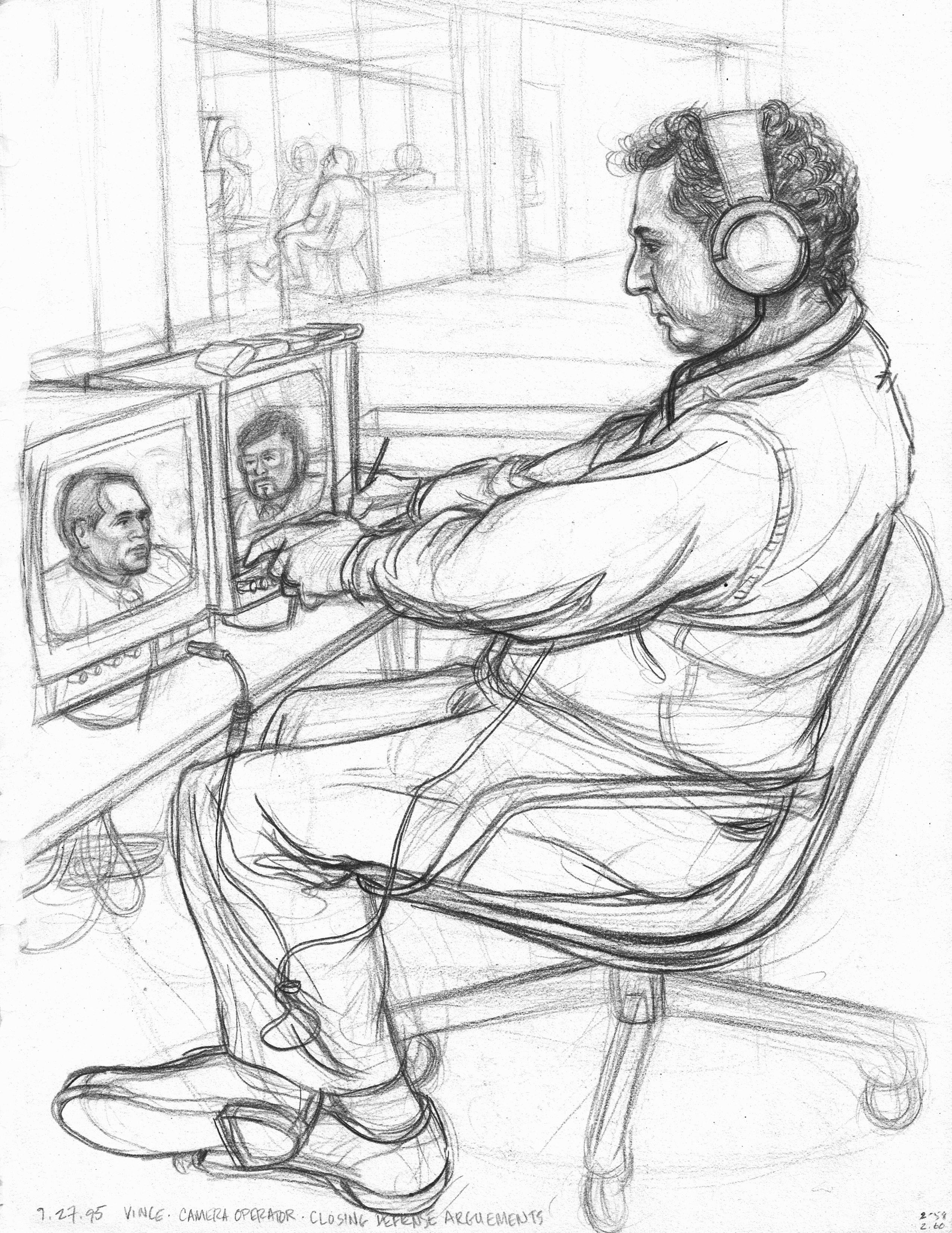 Vince - Hallway TV Operator BW