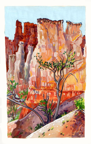 Bryce Canyon Queens Window buttes