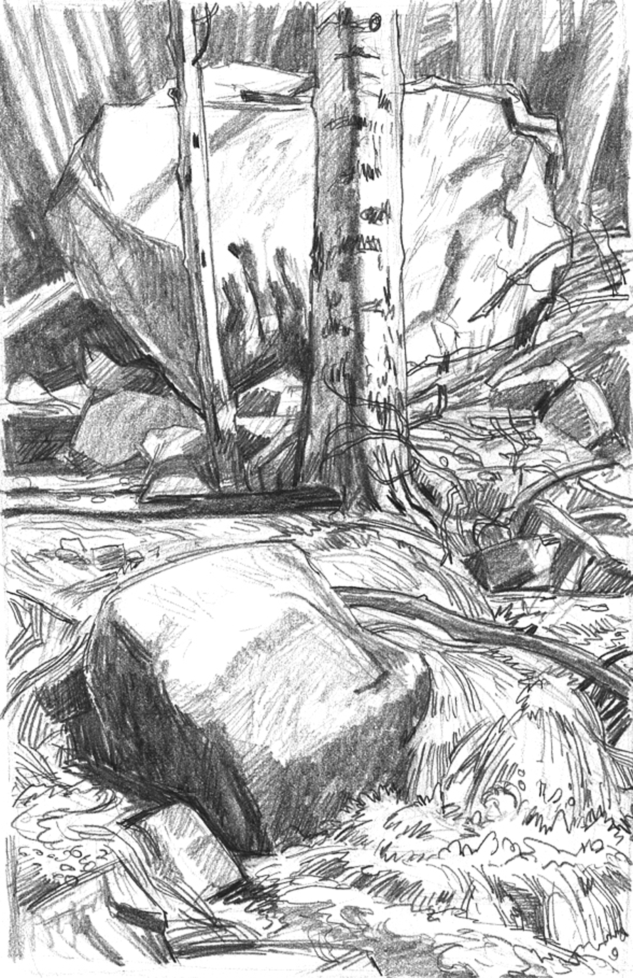 Baldy creek cascades & boulders