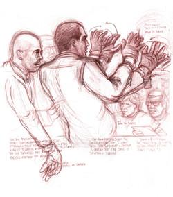 OJ showing gloves to jury