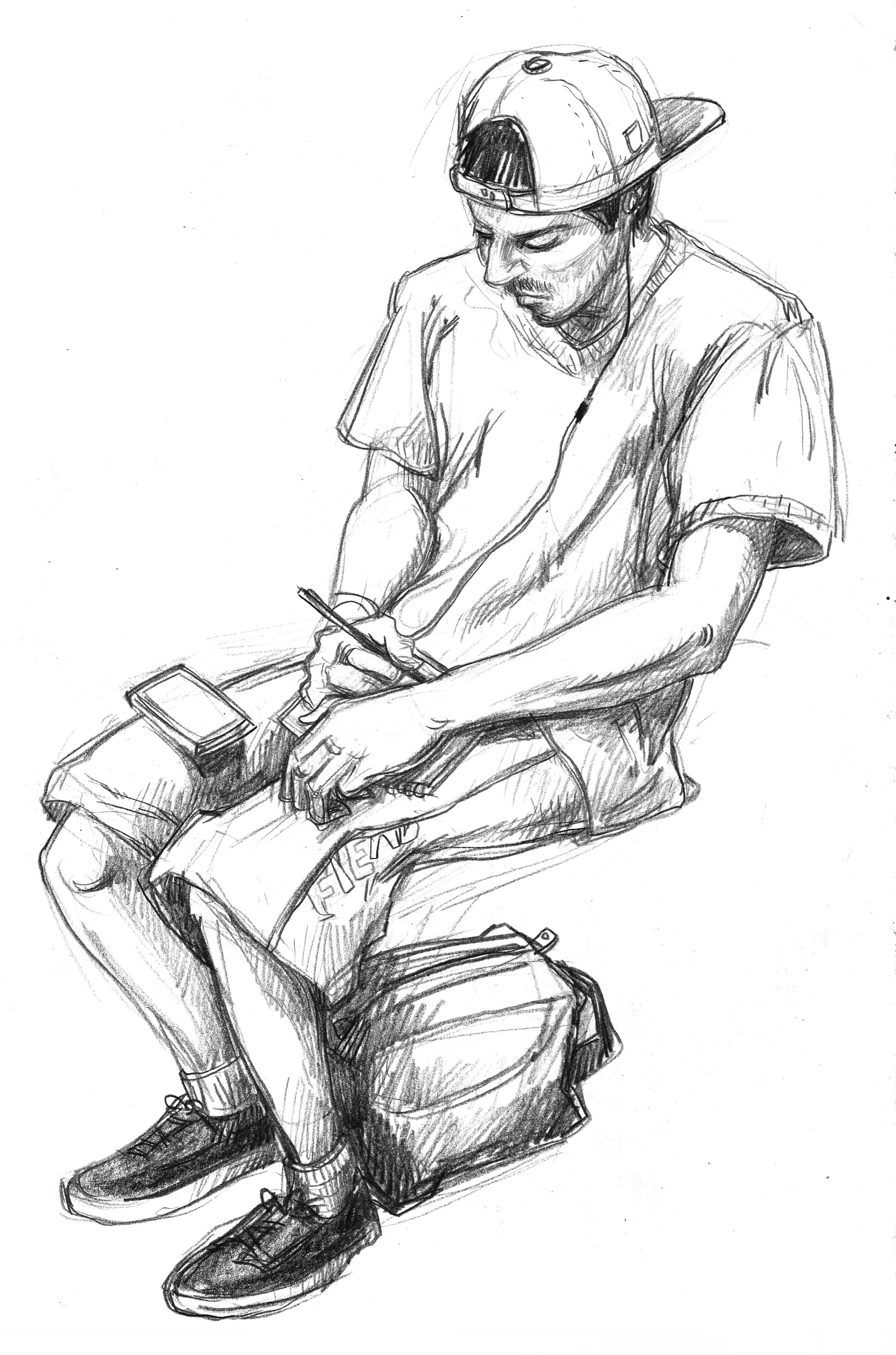 Metro guy in shorts
