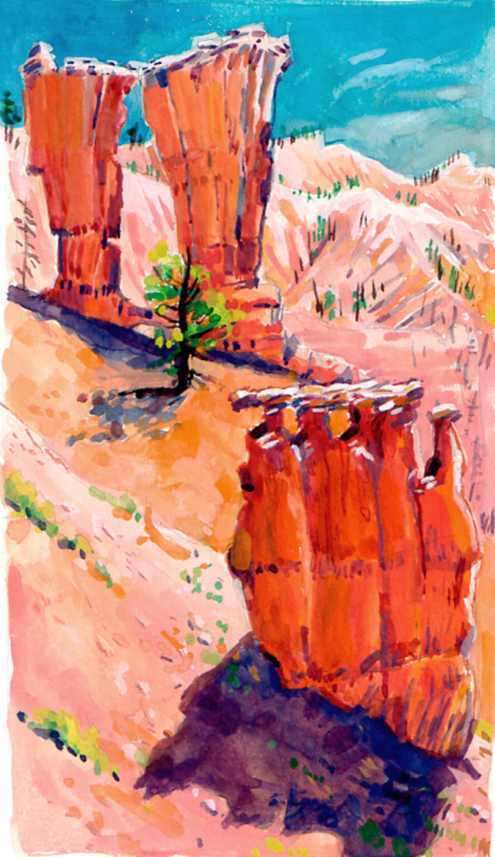 Bryce Cyn. Fairyland Trail spires