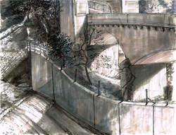 Arroyo slide & concrete bridges