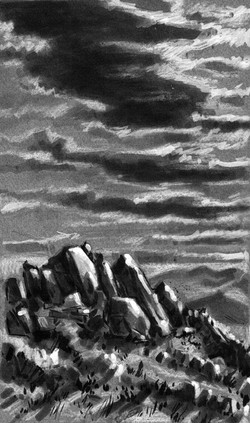 Joshua Tree Clouds & Boulders