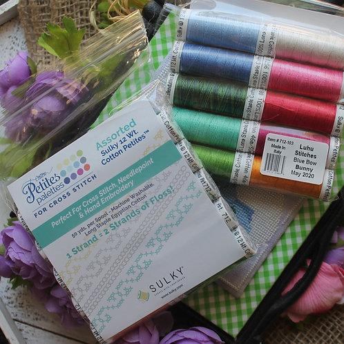 Blue Bow Bunny SULKY Thread Pack