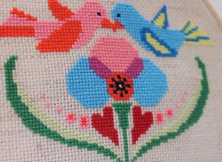 Story of the Stitch: Modern Love Birds