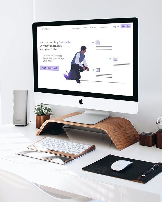 Mac PC on work desk