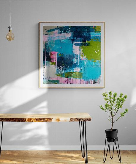 'Flourish' // 60 X 60cm // Original painting on canvas