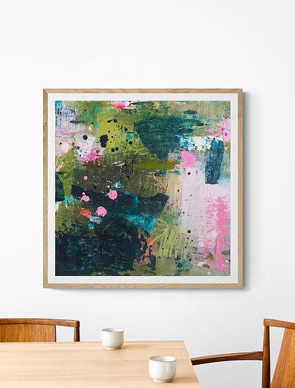 Adventures In Colour 1 // Original painting on canvas // 40 X 40cm