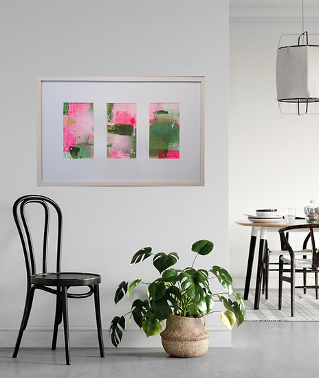 'Close To Home'//Original Irish abstract art // Triptych