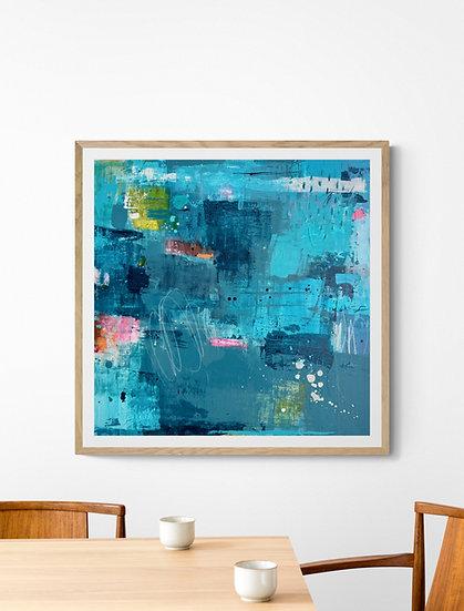 Adventures In Colour 5 // Original painting on canvas  // 70 X 70cm