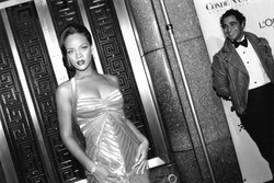 Rihanna and Zac Posen, 2006