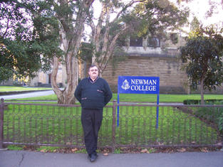 Chris in the University of Melbourne, where he lectured on Michael Dwyer