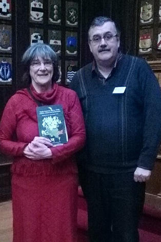 Chris with Dr. Katharine Simms at the launch of