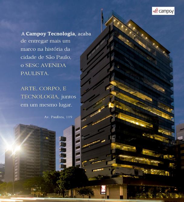 Campoy Tecnologia entrega mais uma obra, SESC Av. Paulista.