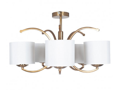 Arcadia metal curved 3 arm semi flush pendant by Pacific