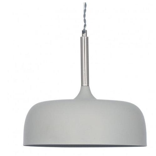 Pacific Anke matt grey domed metal pendant