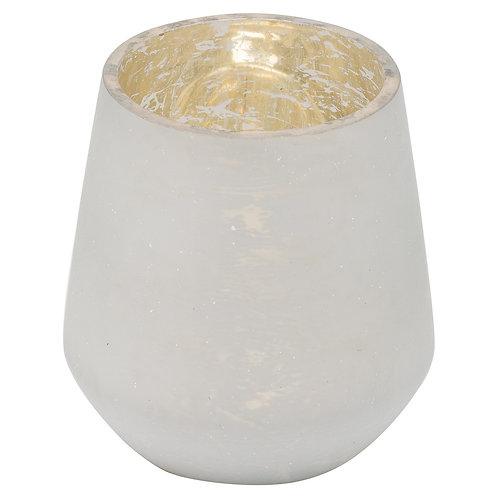 White mecury tea light holder
