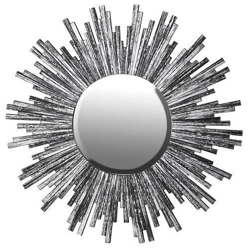 Smoked Black Glass Starburst Mirror