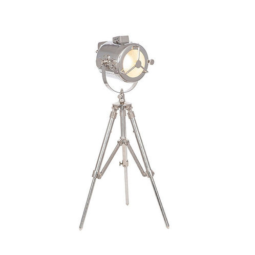 Nickel searchlight Desk lamp by Pacific
