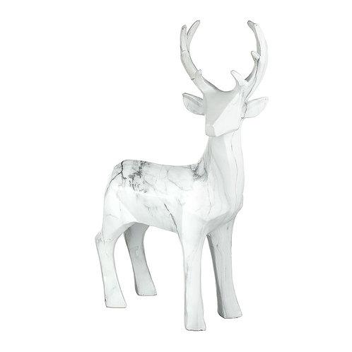 Large Resin Standing Deer Marble Effect