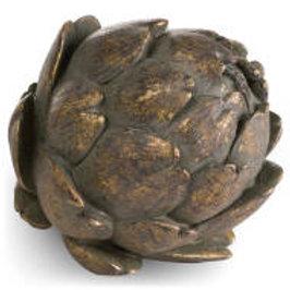 Large antique bronze large artichoke
