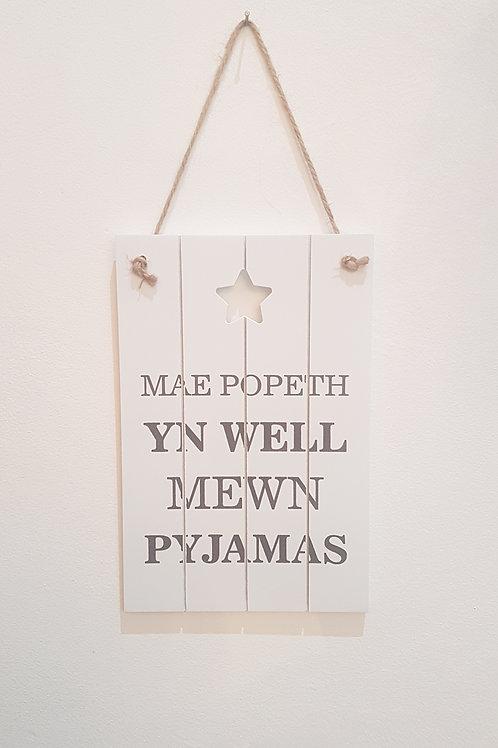 Welsh Pajamas sign
