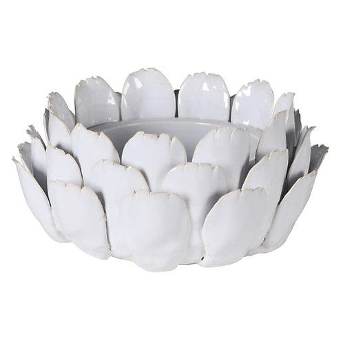Large White Flower Candleholder