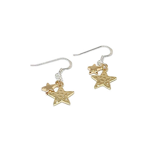 Poppy Sterling Silver Star Earrings - Gold